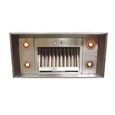 custom Stainless Steel range hood Texas Lightsmith Model #16