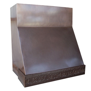 custom copper range hood Texas Lightsmith Model #1