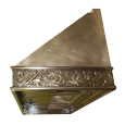 custom brass range hood Texas Lightsmith Model #1
