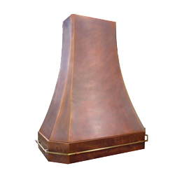 custom copper range hood Texas Lightsmith Model #20, A