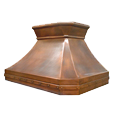 custom copper range hood Texas Lightsmith Model #20, B