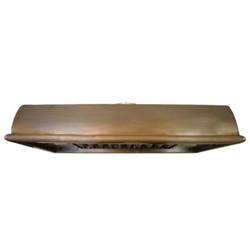 custom copper range hood Texas Lightsmith Model #21