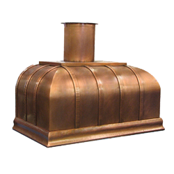 custom copper range hood Texas Lightsmith Model #22, A
