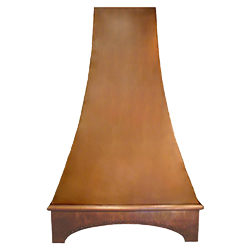 custom copper range hood Texas Lightsmith Model #23, A
