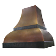 custom bronze range hood Texas Lightsmith Model #24, D
