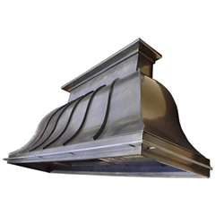 custom nickel silver range hood Texas Lightsmith Model #nickel silver