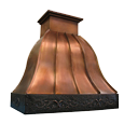 custom copper range hood Texas Lightsmith Model #25, B