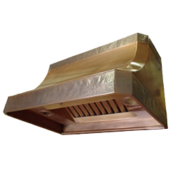 custom copper range hood Texas Lightsmith Model #26, A