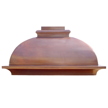 custom copper range hood Texas Lightsmith Model #2