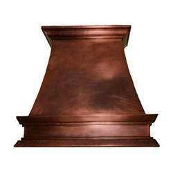 custom copper range hood Texas Lightsmith Model #32