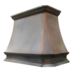 custom copper range hood Texas Lightsmith Model #33