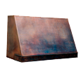 custom copper range hood Texas Lightsmith Model #3