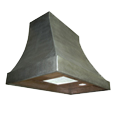 custom nickel silver range hood Texas Lightsmith Model #4, B