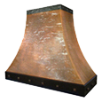 custom copper range hood Texas Lightsmith Model #4, C