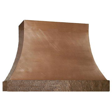 custom copper range hood Texas Lightsmith Model #4, D