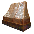 custom copper range hood Texas Lightsmith Model #4, E
