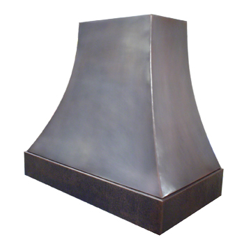 custom copper range hood Texas Lightsmith Model #4, F