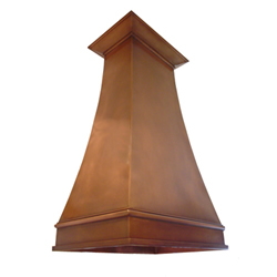custom copper range hood Texas Lightsmith Model #6, A