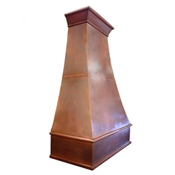 custom copper range hood Texas Lightsmith Model #6, B