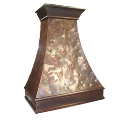 custom copper range hood Texas Lightsmith Model #6, C