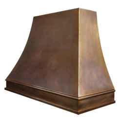 custom bronze range hood Texas Lightsmith Model #4