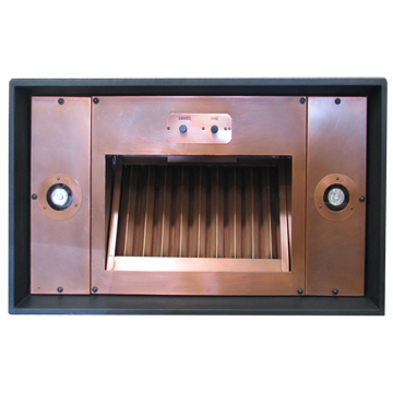 custom range hood insert by Texas Lightsmith Model #4, F - variation 1