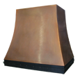 custom bronze range hood Texas Lightsmith Model #4, F - variation 1